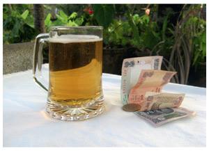 India. Local beer consumption declines in Delhi