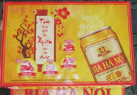 Vietnam. The retailers has sold twice as expensive beer during three days of the New Year