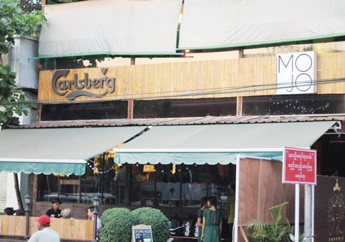 Myanmar. MoJo reopens with Carlsberg branding
