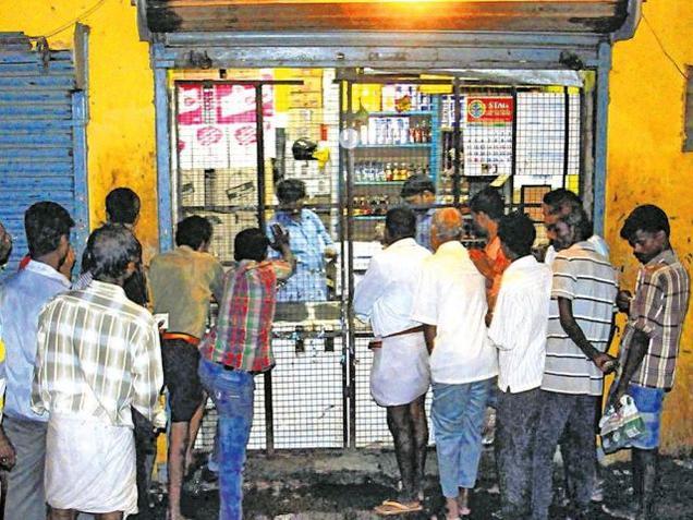 India. Weeks after partial closure, TASMAC sales dip a tad