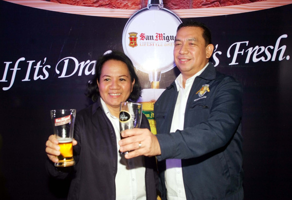 Philippines. San Miguel is now brewing draft beer