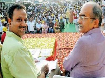 India. Booze brawl between politicans  in Dehli