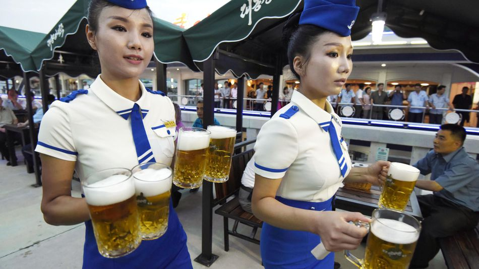 Hundreds turn up for North Korea's first beer festival