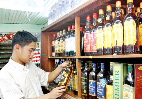 Myanmar. Mandalay booze busts trending downward in 2016